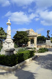 Blå horisont i Floriana, Malta Arkivfoto