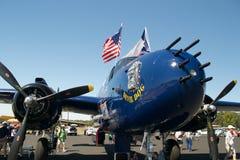 Blå hund för jäkel för WWII-Förenta staterna bombplan namngiven Arkivbilder