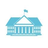 Blå husform stock illustrationer