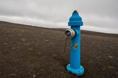 blå hydrant fotografering för bildbyråer