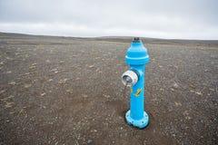 blå hydrant royaltyfri bild