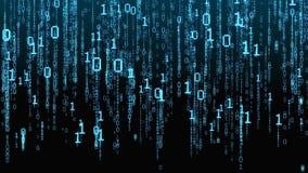 blå i lager skärm för koddator djupt matris royaltyfri illustrationer