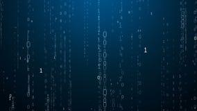 blå i lager skärm för koddator djupt matris stock illustrationer