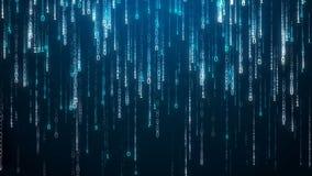 blå i lager skärm för koddator djupt matris vektor illustrationer