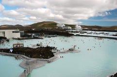 blå iceland keflaviklagun arkivbild
