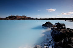 blå iceland lagun Royaltyfria Bilder