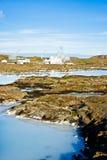 blå iceland lagun arkivbild