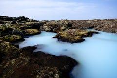 blå iceland lagun Fotografering för Bildbyråer