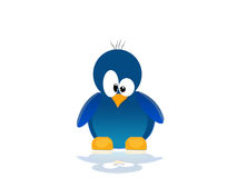 blå illustrationpingvinplats stock illustrationer