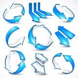 blå illustrationvektor för pilar stock illustrationer