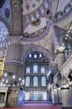 blå inre moské Arkivbild