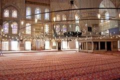 blå inre moské Arkivbilder