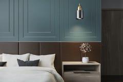 blå interior för sovrum Fotografering för Bildbyråer