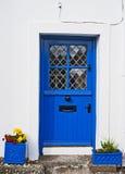 Blå irländsk dörr Royaltyfri Fotografi