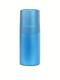 blå isolerad flaskdeodorant Arkivfoton