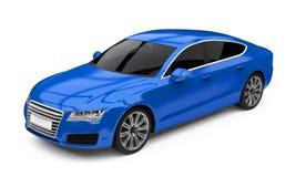 Blå isolerad Sedanbil för lyx royaltyfri illustrationer