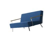 blå isolerad sofa Royaltyfria Foton