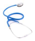 blå isolerad stetoskopwhite Royaltyfri Fotografi