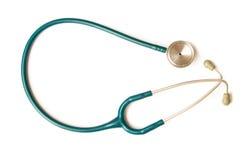 blå isolerad stetoskopwhite Fotografering för Bildbyråer