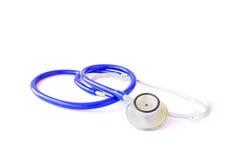 blå isolerad stetoskopwhite Royaltyfria Foton