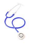 blå isolerad stetoskopwhite Arkivfoton