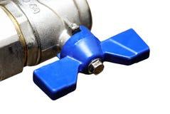 blå isolerad ventil Royaltyfria Bilder