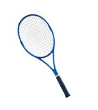 Blå isolerad vit bakgrund för tennisracket Fotografering för Bildbyråer