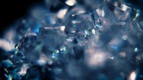 Blå isrörelsebakgrund stock video
