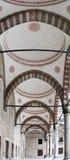 blå istanbul för valvgång moské Royaltyfri Bild