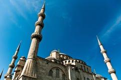 blå istanbul moské Arkivbild