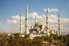blå istanbul moské Royaltyfri Bild
