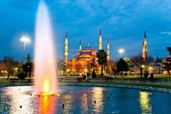 blå istanbul moskékalkon Royaltyfri Fotografi