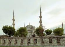 blå istanbul moskékalkon Arkivfoto