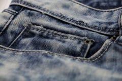 Blå jean eller blåttgrov bomullstvill från industriellt arkivfoto