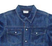 Blå jeanskjorta Arkivfoton