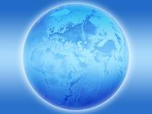 blå jord Arkivfoton