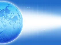 blå jord stock illustrationer