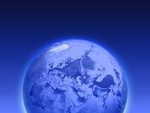 blå jord vektor illustrationer