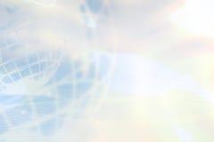 blå jordklotlampa för bakgrund Arkivfoto