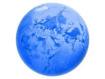 blå jordklotvärld royaltyfri illustrationer