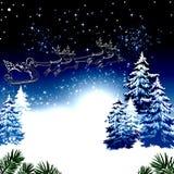 blå jul Royaltyfri Fotografi