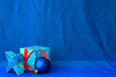 blå jul Royaltyfri Bild