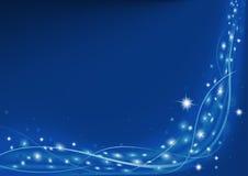 blå jul royaltyfri illustrationer