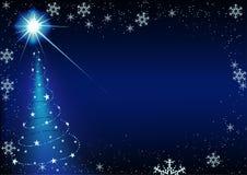 blå jul Royaltyfri Foto