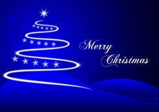 Blå jul för täppa Arkivfoto