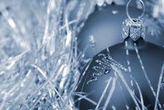 blå jul tonad toy Royaltyfria Bilder