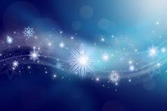 Blå julbakgrund Royaltyfri Foto