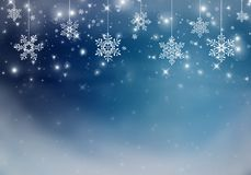 Blå julbakgrund Arkivbilder