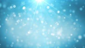 Blå julbakgrund Royaltyfria Bilder