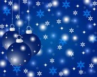 Blå julbakgrund Fotografering för Bildbyråer